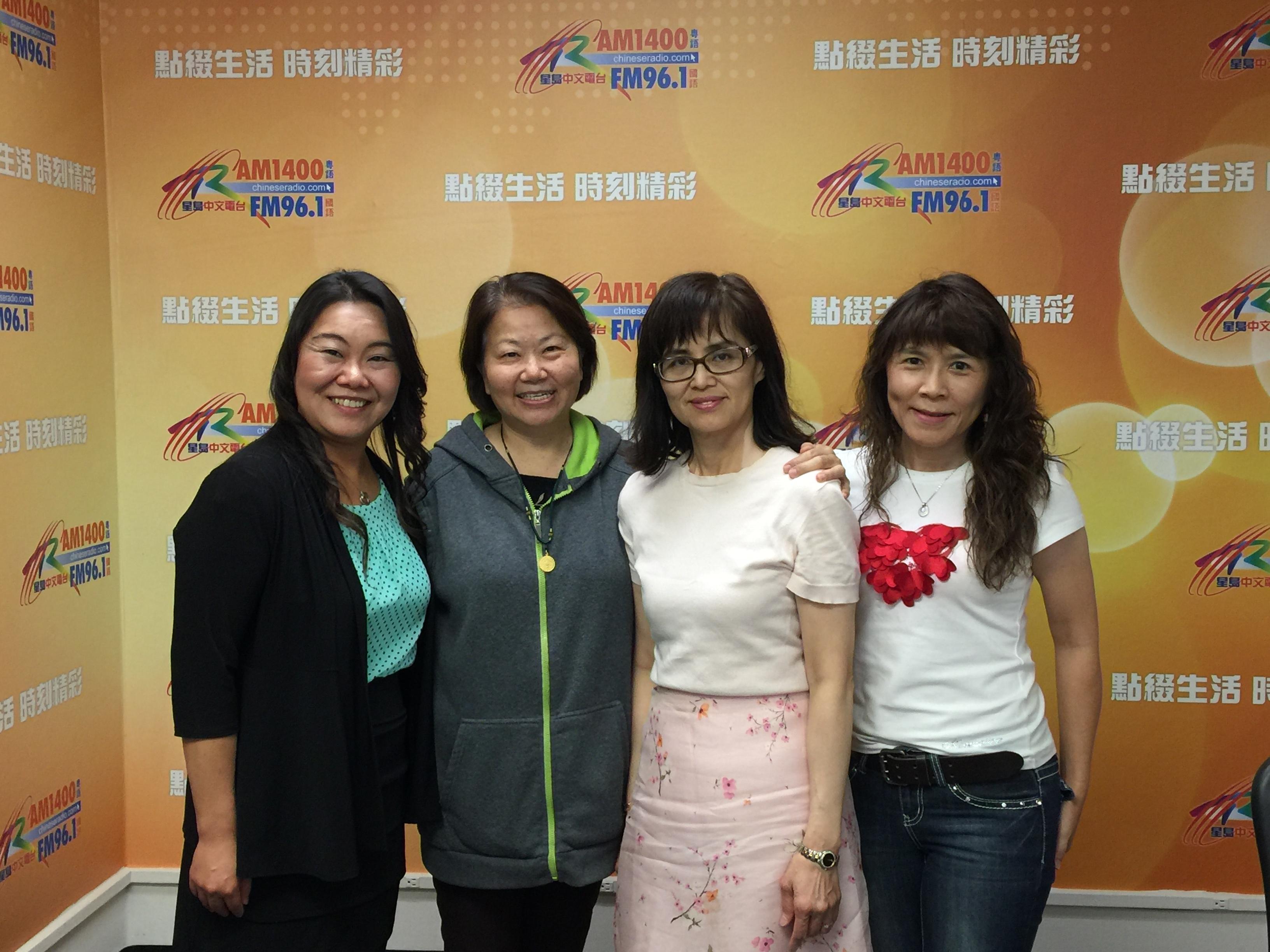 北加州中文學校校長瑪莉及 蘇淑蓉校長與曾智寧蓉